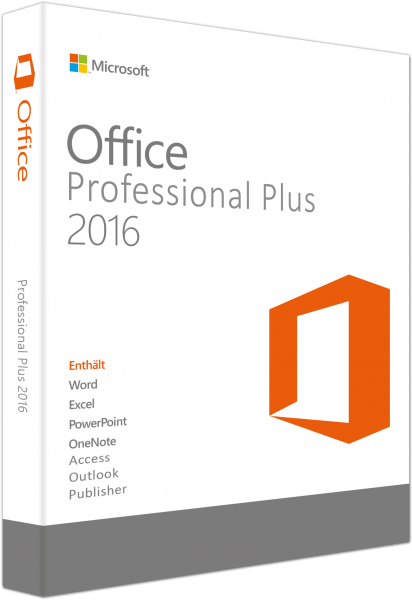 Microsoft Office Professional Plus 2016 für 3 PCs als USB-Stick