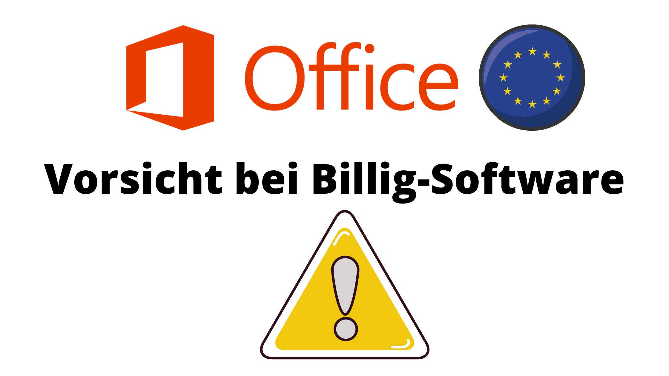 Vorsicht bei zu günstigen Software Lizenzen