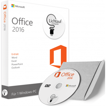 Microsoft Office 2016 as DVD