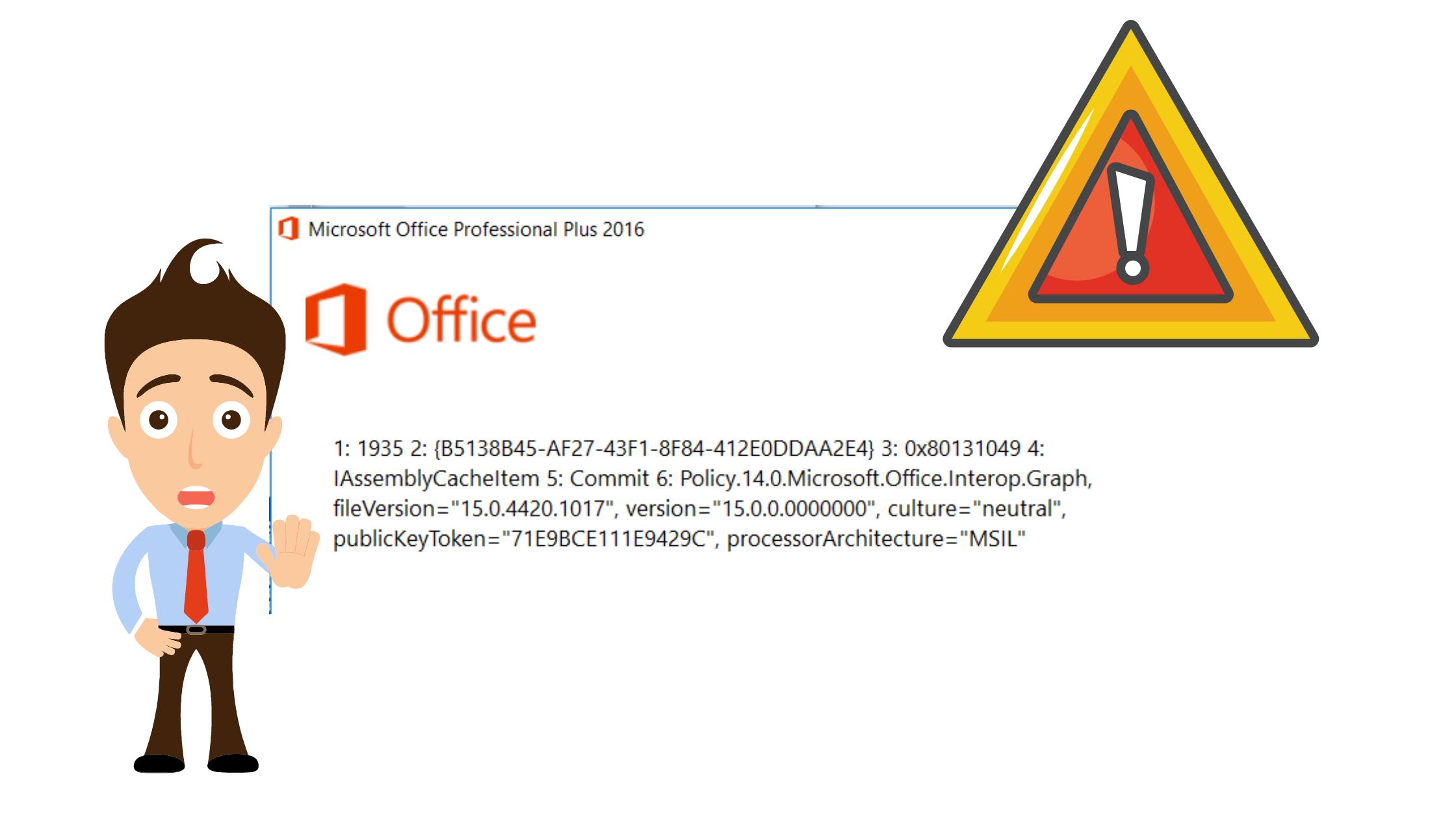 Correction de l'erreur 1935 lors de l'installation d'Office 2007-2016