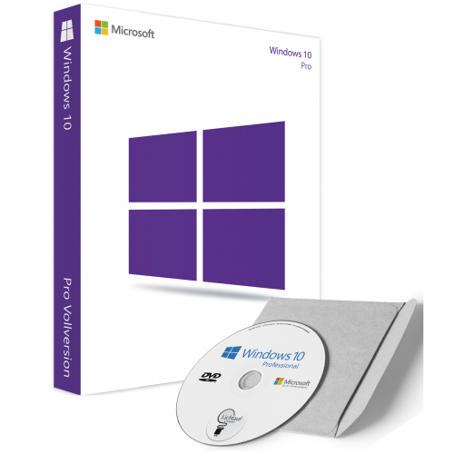 Microsoft Windows 10 Professional as DVD