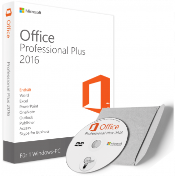 office professional plus 2016 as DVD